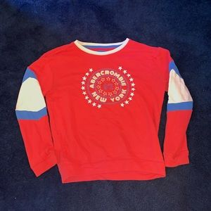 Abercrombie & Fitch red, white, & blue sweatshirt